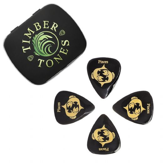 Zodiac Tones Pisces Tin of 4 Guitar Picks